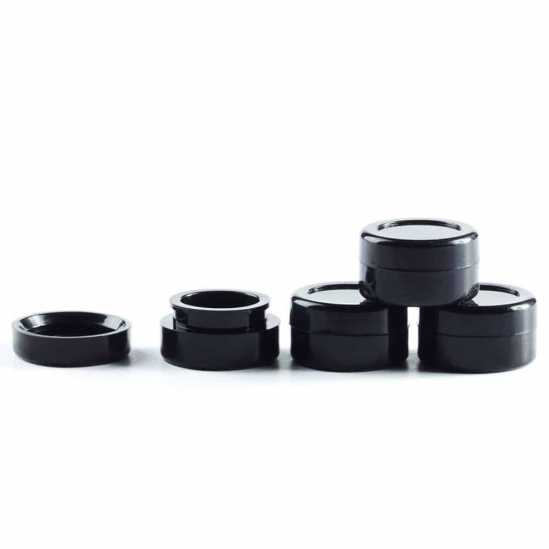 5ML Midnight Black Silicone Concentrate Container   Collective Supply