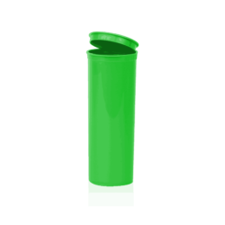 Opaque Green 60 Dram Pop Top, 60 dram pop top container, cannabis, Open, Green, opaque, compliant,, child resistant