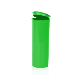 60 dram pop top container, cannabis, Open, Green, opaque, compliant,, child resistant
