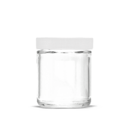 5oz Glass Jars with Lids White