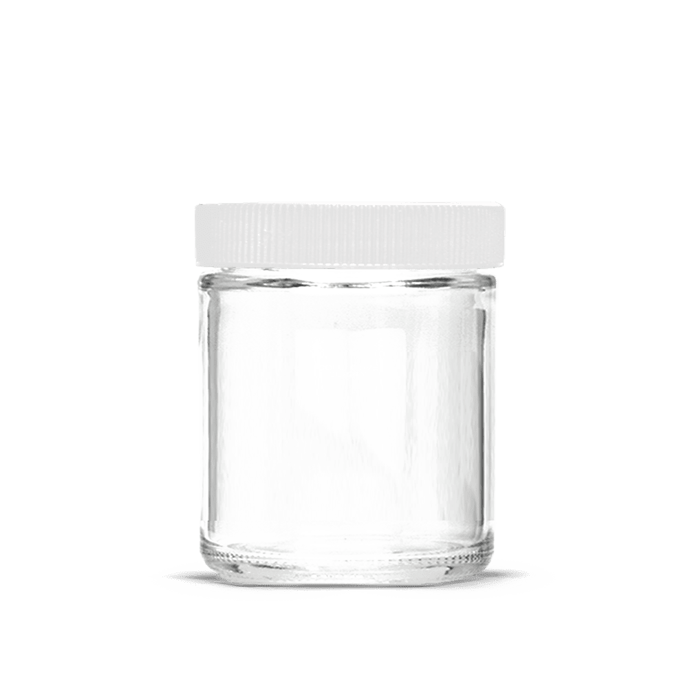 5oz Glass Jars With Lids White 100ct Collective Supply