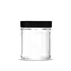 5oz Glass Jars with Lids Black