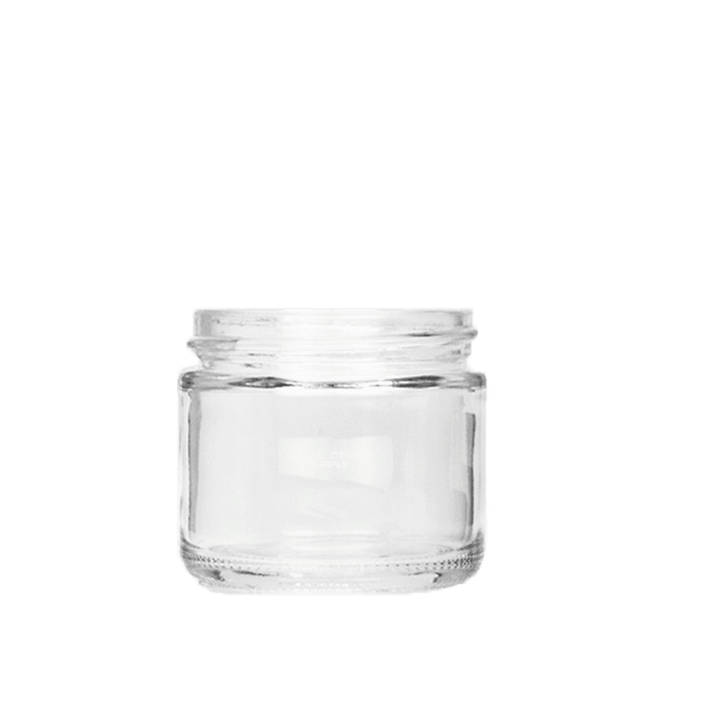 2 Oz Glass Jars With White Lids Glass 2 Oz Jars