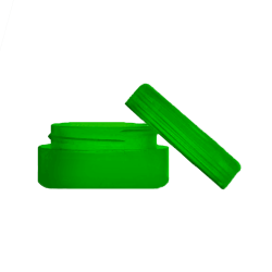 5ml silicone green, concentrate containers