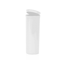 Opaque White 60 Dram Pop Top, 60dr Poptops Open White