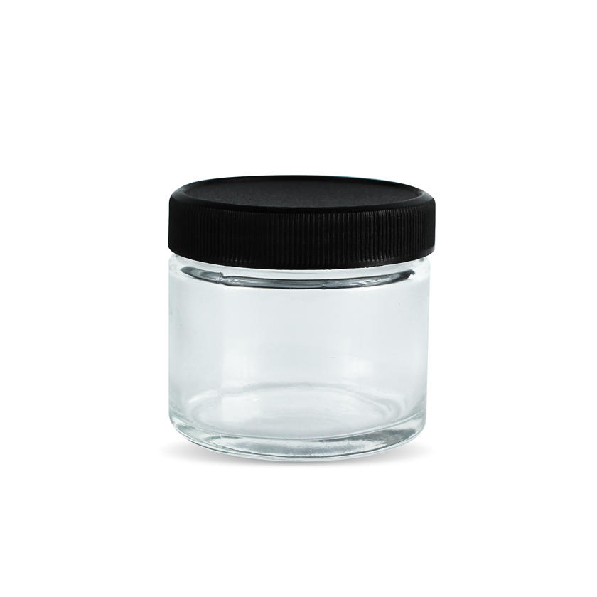 2 oz glass jars with black lids cannabis 2 oz jars