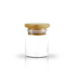 2oz Glass Jar with Bamboo Lid, 2oz glass jar, 2oz premium glass jar, 2oz premium borosilicate glass jar,premium glass jars, borosilicate glass jars, borosilicate glass, bamboo cap, bamboo lid, airtight lid, premium glass jars for marijuana, marijuana glass jars, jars to store marijuana, cannnabis glass jars, jars to store cannabis, premium glass jars for cannabis,