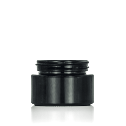30ml black glass jars