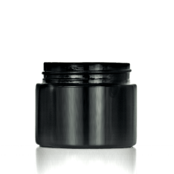 60ml black glass jars