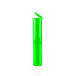 neon green pre-roll tubes, pre-roll packaging, pre-roll tubes, pre roll, child resistant, tamper evident, cones