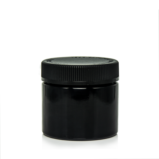 120ml black glass jars, black glass
