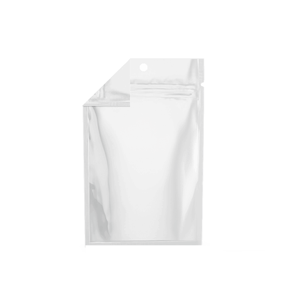 Xit 174 Child Resistant Mylar Bags Matte White Clear 1 4 Oz