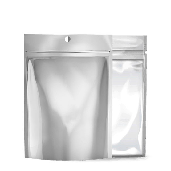Xit 174 Child Resistant Mylar Bags Matte Silver Clear 1 2 Oz