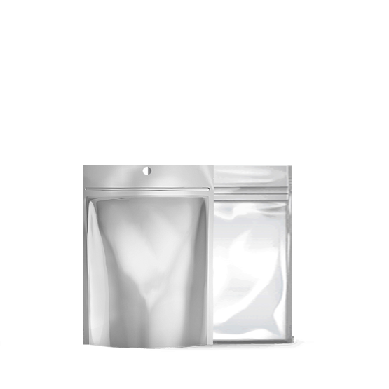 Xit 174 Child Resistant Mylar Bags Matte Silver Clear 1 8 Oz