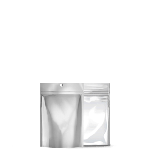 Xit 174 Child Resistant Mylar Bags Matte Silver Clear Gram