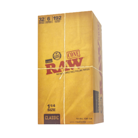 RAW Classic 1 1/4 Pre Rolled Cones 6-pack Retail Display