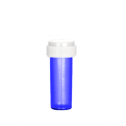 8dr Reversible Cap Vials Translucent Blue