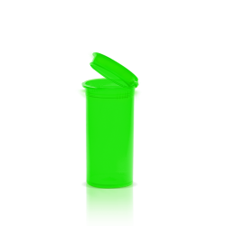 opaque neon green 13 dram pop top, xit® 13 dram pop, 13 dram pop top bottles, 13 dram pop top, pop top bottles, cannabis packaging, marijuana packaging, weed containers, mj labels, mj containers, marijuana containers