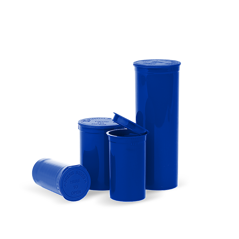 opaque blue pop top bottles, Pop top bottles wholesale, pop top vials wholesale, pop top labeling, pop top containers, pop top bottles, pop top vials, 13 dram pop top, 19 dram pop top, 30 dram pop top, 60 dram pop top, 90 dram pop top, 6 dram pop top, 5 dram pop top, pop top cr bottles, pop top, pop top bottles wholesale, kush pops, xit pop tops, xit brands containers, xit brand pop tops, xit packaging, marijuana packaging, containers that hold cannabis, XIT Brand Pop Top Containers from Cannabis Packaging.com . Marijuana & cannabis available in white, black, green, gold, pink, silver, red, purple, gray, purple, orange, yellow, clear and blue. Pop Top Bottles that are CPSC Certified and meet ASTM Standards. Child Resistant, Child Proof, medical grade, kush bottles, opaque, translucent, blocks UV Rays, medical grade plastic, BPA free, FDA-approved materials, air tight, 100% Recyclable, marijuana packaging, 420 packaging, cannabis containers, child resistant packaging, wholesale packaging, dispensary packaging, smell proof packaging.