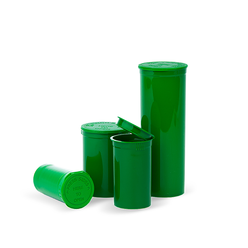 opaque green pop top bottles, Pop top bottles wholesale, pop top vials wholesale, pop top labeling, pop top containers, pop top bottles, pop top vials, 13 dram pop top, 19 dram pop top, 30 dram pop top, 60 dram pop top, 90 dram pop top, 6 dram pop top, 5 dram pop top, pop top cr bottles, pop top, pop top bottles wholesale, kush pops, xit pop tops, xit brands containers, xit brand pop tops, xit packaging, marijuana packaging, containers that hold cannabis, XIT Brand Pop Top Containers from Cannabis Packaging.com . Marijuana & cannabis available in white, black, green, gold, pink, silver, red, purple, gray, purple, orange, yellow, clear and blue. Pop Top Bottles that are CPSC Certified and meet ASTM Standards. Child Resistant, Child Proof, medical grade, kush bottles, opaque, translucent, blocks UV Rays, medical grade plastic, BPA free, FDA-approved materials, air tight, 100% Recyclable, marijuana packaging, 420 packaging, cannabis containers, child resistant packaging, wholesale packaging, dispensary packaging, smell proof packaging.