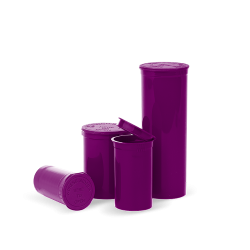 opaque purple pop top bottles, Pop top bottles wholesale, pop top vials wholesale, pop top labeling, pop top containers, pop top bottles, pop top vials, 13 dram pop top, 19 dram pop top, 30 dram pop top, 60 dram pop top, 90 dram pop top, 6 dram pop top, 5 dram pop top, pop top cr bottles, pop top, pop top bottles wholesale, kush pops, xit pop tops, xit brands containers, xit brand pop tops, xit packaging, marijuana packaging, containers that hold cannabis, XIT Brand Pop Top Containers from Cannabis Packaging.com . Marijuana & cannabis available in white, black, green, gold, pink, silver, red, purple, gray, purple, orange, yellow, clear and blue. Pop Top Bottles that are CPSC Certified and meet ASTM Standards. Child Resistant, Child Proof, medical grade, kush bottles, opaque, translucent, blocks UV Rays, medical grade plastic, BPA free, FDA-approved materials, air tight, 100% Recyclable, marijuana packaging, 420 packaging, cannabis containers, child resistant packaging, wholesale packaging, dispensary packaging, smell proof packaging.