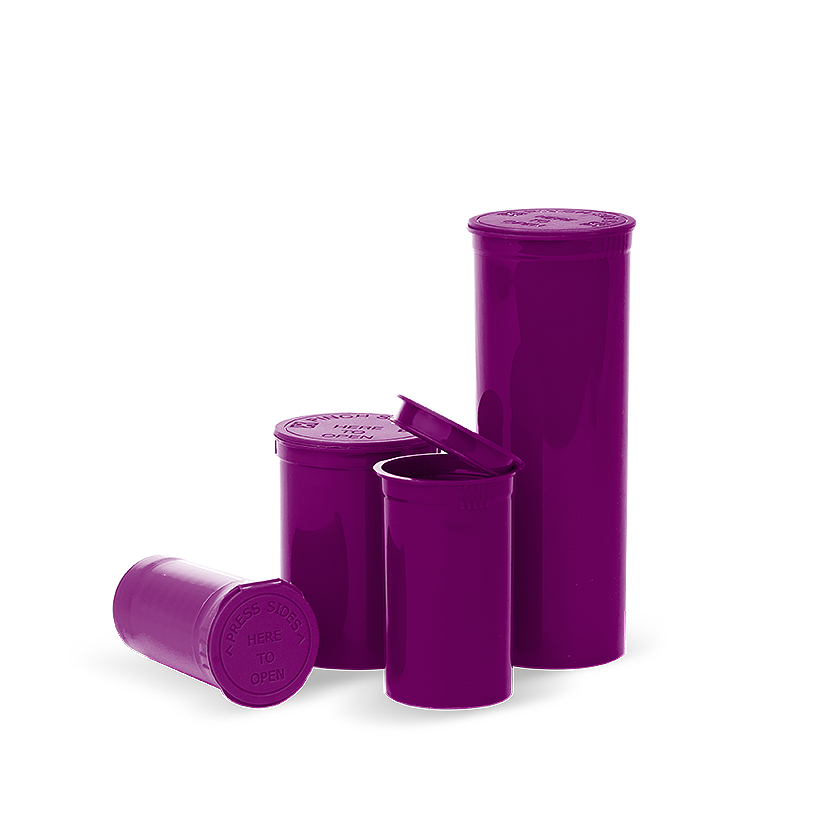 Opaque Purple 5 Dram Pop Top Containers Collective Supply
