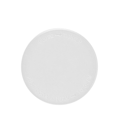 89mm child resistant cap white, white child resistant lid 89mm