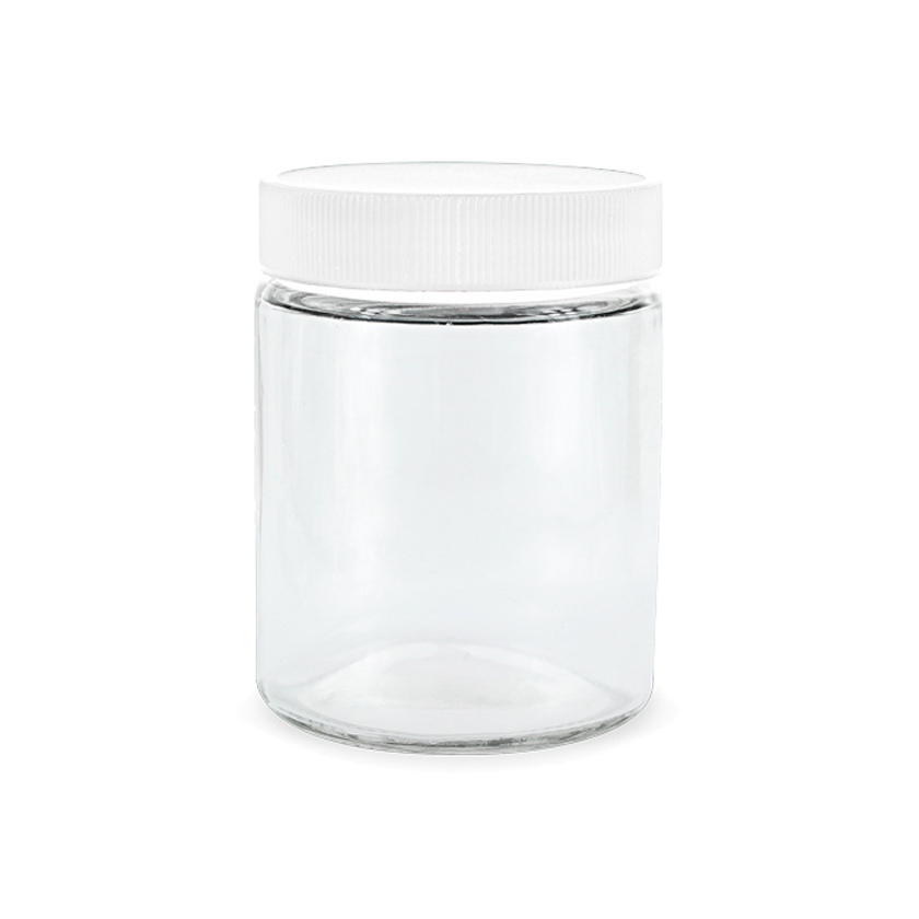 4oz glass jars with lids white 120ct collective supply